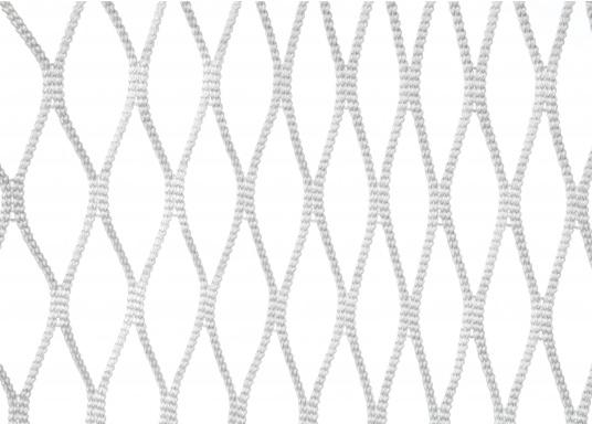 Relingsnetzaus Polyestergeflochten und verschweißt undmit einer Maschenweite von 30mm.