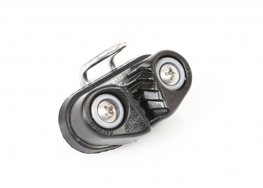 Die Mini Klemme für Schotendurchmesser von 3 - 7 mm. Lieferung inklusive Frontbügel und Schrauben. Lochabstand: 27 mm, Länge: 47 mm, Breite: 22 mm.  (Bild 4 von 5)