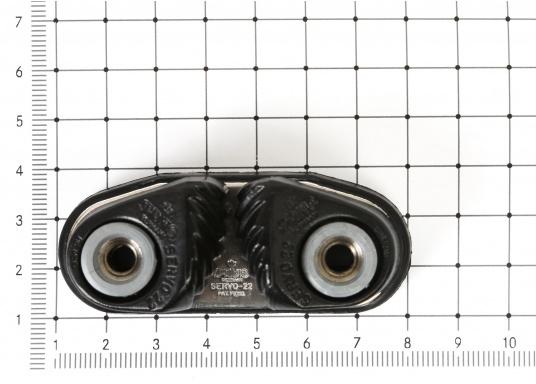 Die Servo Cleat 22 Schotklemme eignet sich für Tauwerke zwischen 6 - 10 mm bzw.8 - 12 mm.Lieferung inklusive Schrauben. Erhältlich in drei unterschiedlichen Ausführungen.  (Bild 5 von 5)