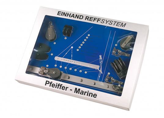 Dieses Reffsystem von Pfeiffer Marineeignet sich für Boote bis ca. 34 Fuß.Die Montage ist miteinfachsten Bordmitteln möglich.Bei Bedarf kann das Großsegel nun vom Cockpit aus gerefft werden. (Bild 2 von 3)