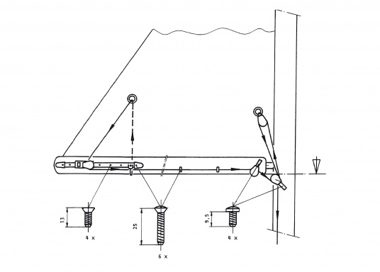 Dieses Reffsystem von Pfeiffer Marineeignet sich für Boote bis ca. 34 Fuß.Die Montage ist miteinfachsten Bordmitteln möglich.Bei Bedarf kann das Großsegel nun vom Cockpit aus gerefft werden. (Bild 3 von 3)