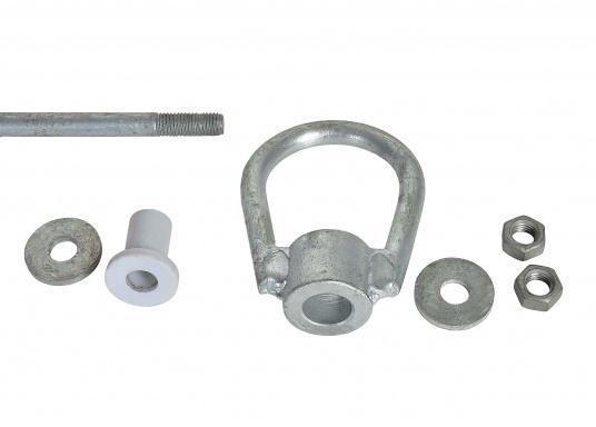 feuerverzinkte 12 mm Stahlstange  mit Wirbel und beidseitigen Ösen  in verschiedenen Größen und Längen lieferbar   (Bild 8 von 10)