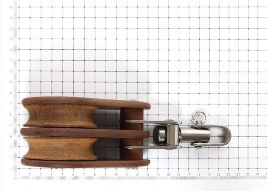 Zweischeibige Blöcke mit Wirbelschäkel. Erhältlich in verschiedenen Größen. (Bild 3 von 3)