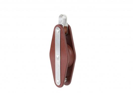 Einscheibige Blöcke mit Bügel und Unterbügel. Erhältlich in verschiedenen Größen.