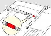 - Schubstangenverlängerung für Pinnenpilot