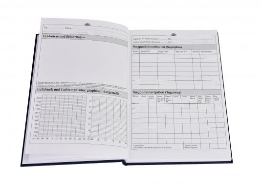 Es ist gesetzliche Pflicht an Bord ein Logbuch mitzuführen. Diese Logbuch für die Yacht bietet neben den offiziellen Eintragungen auf 176 Seiten auch genügend Platz für Privates. (Bild 10 von 10)