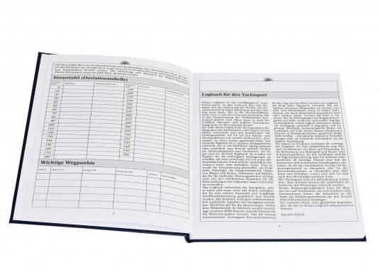Es ist gesetzliche Pflicht an Bord ein Logbuch mitzuführen. Diese Logbuch für die Yacht bietet neben den offiziellen Eintragungen auf 176 Seiten auch genügend Platz für Privates. (Bild 2 von 10)