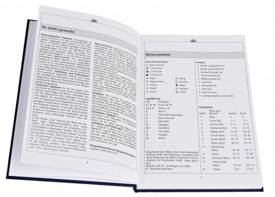 Es ist gesetzliche Pflicht an Bord ein Logbuch mitzuführen. Diese Logbuch für die Yacht bietet neben den offiziellen Eintragungen auf 176 Seiten auch genügend Platz für Privates. (Bild 3 von 10)