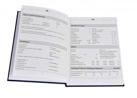 Es ist gesetzliche Pflicht an Bord ein Logbuch mitzuführen. Diese Logbuch für die Yacht bietet neben den offiziellen Eintragungen auf 176 Seiten auch genügend Platz für Privates. (Bild 4 von 10)