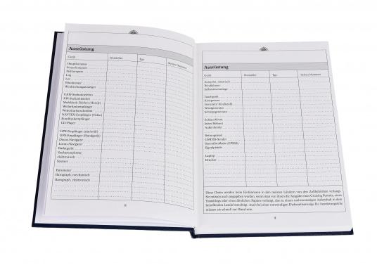 Es ist gesetzliche Pflicht an Bord ein Logbuch mitzuführen. Diese Logbuch für die Yacht bietet neben den offiziellen Eintragungen auf 176 Seiten auch genügend Platz für Privates. (Bild 5 von 10)