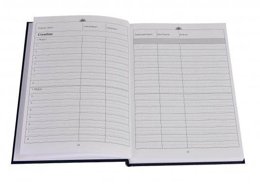 Es ist gesetzliche Pflicht an Bord ein Logbuch mitzuführen. Diese Logbuch für die Yacht bietet neben den offiziellen Eintragungen auf 176 Seiten auch genügend Platz für Privates. (Bild 7 von 10)