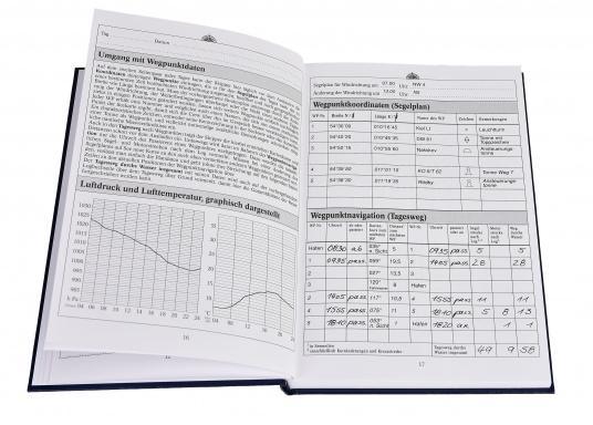 Es ist gesetzliche Pflicht an Bord ein Logbuch mitzuführen. Diese Logbuch für die Yacht bietet neben den offiziellen Eintragungen auf 176 Seiten auch genügend Platz für Privates. (Bild 8 von 10)