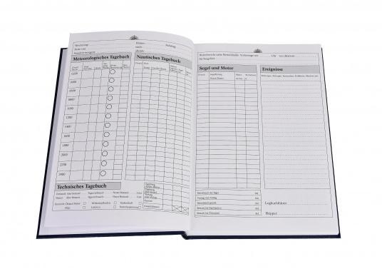 Es ist gesetzliche Pflicht an Bord ein Logbuch mitzuführen. Diese Logbuch für die Yacht bietet neben den offiziellen Eintragungen auf 176 Seiten auch genügend Platz für Privates. (Bild 9 von 10)