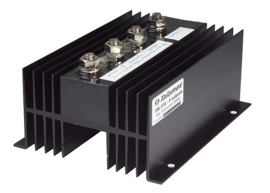 100% für die Batterie!Mit dem NAUTIC POWER Diodenverteiler wird eine nahezu 100%-ige Ladung der Batterien erreicht.Belastbarkeit 90 A Dauerbetrieb, kurzzeitig max. 200 A. Eigenstromverbrauch gegen Null.