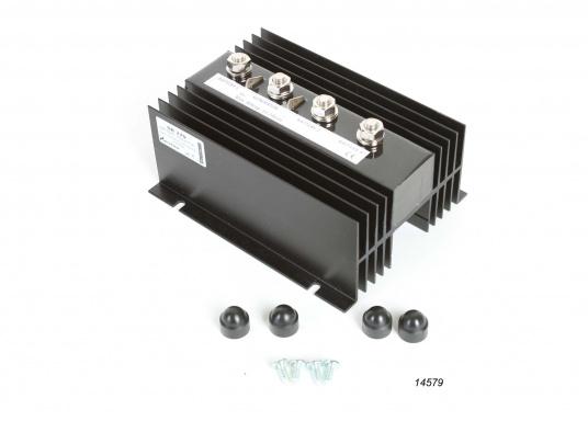 100% für die Batterie!Mit dem NAUTIC POWER Diodenverteiler wird eine nahezu 100%-ige Ladung der Batterien erreicht.Belastbarkeit 90 A Dauerbetrieb, kurzzeitig max. 200 A. Eigenstromverbrauch gegen Null.  (Bild 3 von 4)