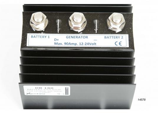100% für die Batterie!Mit dem NAUTIC POWER Diodenverteiler wird eine nahezu 100%-ige Ladung der Batterien erreicht.Belastbarkeit 90 A Dauerbetrieb, kurzzeitig max. 200 A. Eigenstromverbrauch gegen Null.  (Bild 4 von 4)