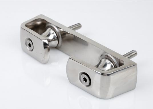Scheuerschutz für Ihre Festmacher! Diese ausgesprochen stabile Lipp- und Klüsenklampe besteht aus rostfreiem Edelstahl, hochglanzpoliert. Sie ist mit zwei Rollen ausgestattet.  (Bild 4 von 4)