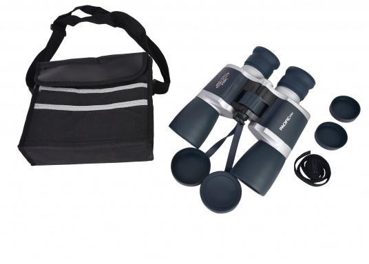 Ideales Fernglas für den Einsteiger und als Reserveglas an Bord. Das wassergeschützte, kompakte Fernglas ist mit einer 7x50-Optik ausgestattet. Es bietet eine Brillenträgeroptik und Mittelantrieb. (Bild 5 von 5)