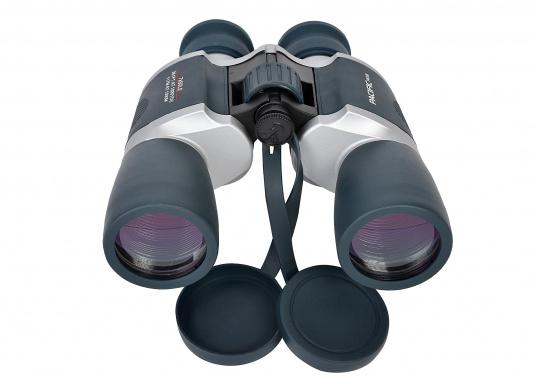 Ideales Fernglas für den Einsteiger und als Reserveglas an Bord. Das wassergeschützte, kompakte Fernglas ist mit einer 7x50-Optik ausgestattet. Es bietet eine Brillenträgeroptik und Mittelantrieb. (Bild 4 von 5)