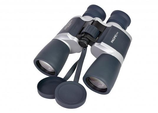 Ideales Fernglas für den Einsteiger und als Reserveglas an Bord. Das wassergeschützte, kompakte Fernglas ist mit einer 7x50-Optik ausgestattet. Es bietet eine Brillenträgeroptik und Mittelantrieb.