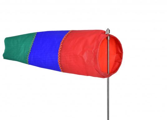 Der Windsack hat ein Gestell aus rostfreiem Edelstahl und ist mit einer Seitenbefestigung ausgestattet. Erhältlich in zwei Ausführungen: 60 mm Ø und 100 mm Ø. (Bild 2 von 7)