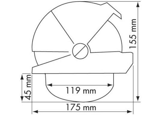 Hochleistungskompass für Motorboote über 9 m. Dem OFFSHORE 135 machen auch härtere Schläge bei schneller Gleitfahrt nichts aus. Das Gerät hat eine einzigartige Abdeckung mit 3 Schiebeelementen.  (Bild 5 von 5)