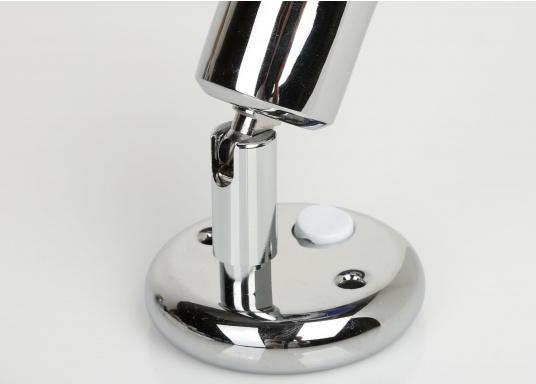 Zeitlos schöne Innenlampe, hergestellt aus verchromten Messing mit weißem Echtglasschirm.  (Bild 2 von 2)