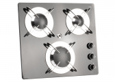 3 burner flush fitting gas stove with glass ceramic table