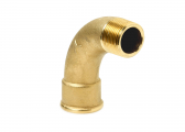 Pipe Elbows / long, brass MS58