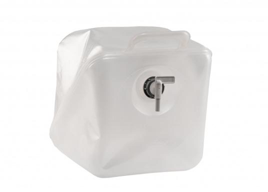 Praktische Wasserkanister in flexibler Ausführung. Die Kanister lassen sichbesonders platzsparend verstauen.Erhältlich in zwei unterschiedlichen Größen.  (Bild 2 von 4)