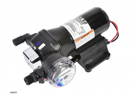 Top-Model mit variabler Drehzahl! Diese Pumpe arbeitet immer mit optimaler Drehzahl und erreicht einen sehr gleichmäßigen Wasserstrom.
