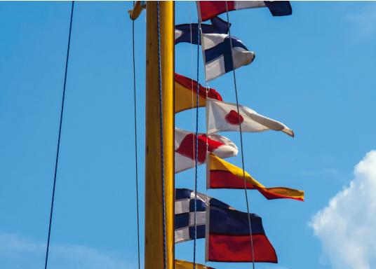 28 unterschiedliche Nationen- und Länderflaggen an einer Kette. Hergestellt aus Polyester. Größe: 20 x 30 cm. Gesamtlänge: 10 m. (Bild 2 von 2)