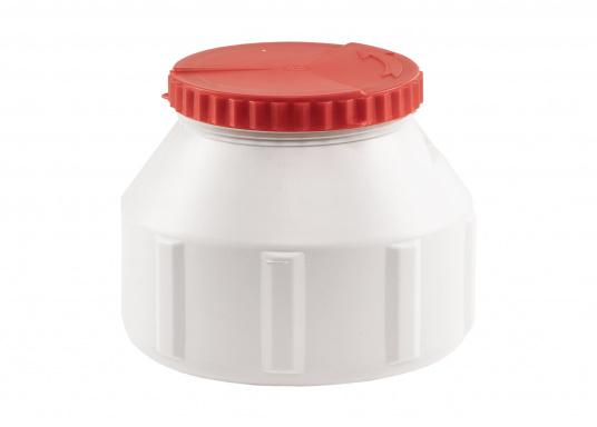Verstauen Sie IhreNotpakete, Medikamente, Signalmittel etc. sicher in diese stabilen und wasserdicht verschließbaren Aufbewahrungsbehältern aus Kunststoff. Inhalt: 6 Liter.