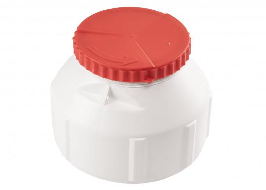 Verstauen Sie IhreNotpakete, Medikamente, Signalmittel etc. sicher in diese stabilen und wasserdicht verschließbaren Aufbewahrungsbehältern aus Kunststoff. Inhalt: 6 Liter.  (Bild 4 von 6)