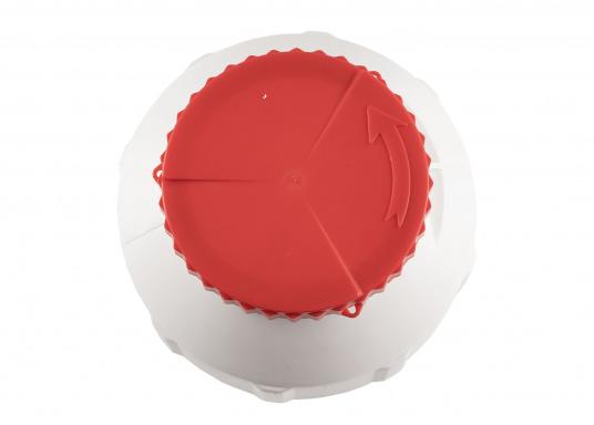 Verstauen Sie IhreNotpakete, Medikamente, Signalmittel etc. sicher in diese stabilen und wasserdicht verschließbaren Aufbewahrungsbehältern aus Kunststoff. Inhalt: 6 Liter.  (Bild 3 von 6)