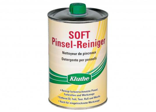 Der Pinsel-Reiniger löst harte, verschmutzte Pinsel. Geruchsmild, biologisch abbaubar. Inhalt: 1000 ml.