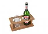 Teak Bottle Holder / 2 bottles