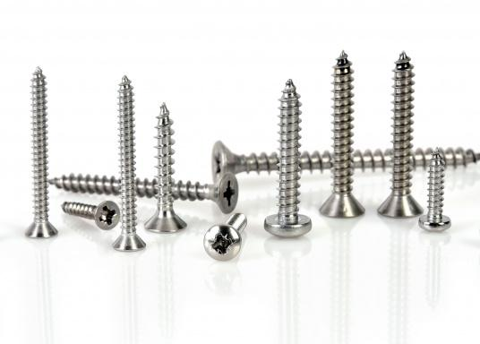 Extensive assortment: TteV4Ascrew case contains 33 different items, totaling more than 520 items such as chipboard and sheet metal screws with countersunk head.  (Imagen 2 de 2)