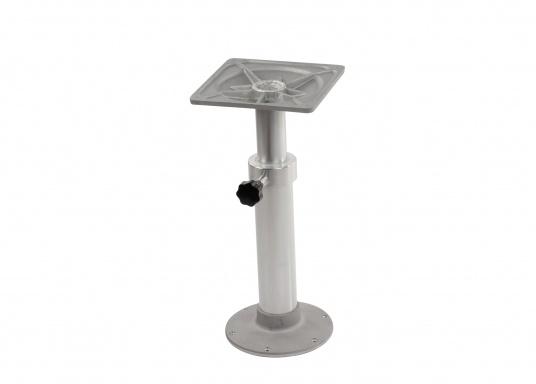Bequeme Höhenverstellung! Der stabile Tischfuß aus Aluminium kann dank der einigebauten Gasfeder sehr einfach in der Höhe angepasst werden. Höhe: von 500mm bis 755 mm.  (Bild 4 von 5)
