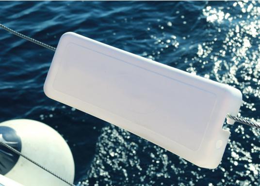 Schonen Sie Ihren Rücken mit dieser handlichen Relings-Rückenlehne aus Kunststoff. Abmessung:(Bx H) 38 x 12 cm.