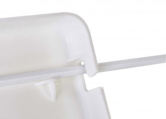 Schonen Sie Ihren Rücken mit dieser handlichen Relings-Rückenlehne aus Kunststoff. Abmessung:(Bx H) 38 x 12 cm.  (Bild 6 von 6)