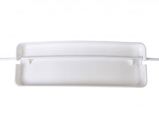 Schonen Sie Ihren Rücken mit dieser handlichen Relings-Rückenlehne aus Kunststoff. Abmessung:(Bx H) 38 x 12 cm.  (Bild 5 von 6)