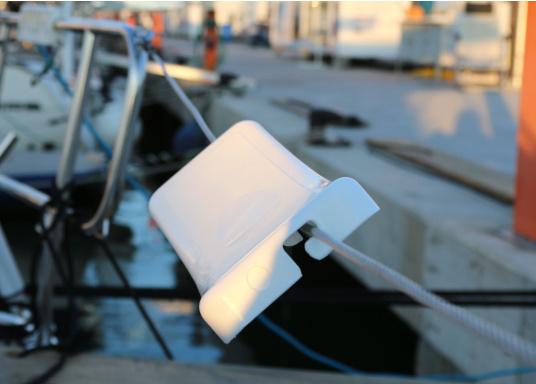 Schonen Sie Ihren Rücken mit dieser handlichen Relings-Rückenlehne aus Kunststoff. Abmessung:(Bx H) 38 x 12 cm.  (Bild 3 von 6)