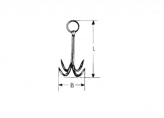 Praktischer Netz- und Wurfanker aus rostfreiem Edelstahl. (Bild 4 von 4)