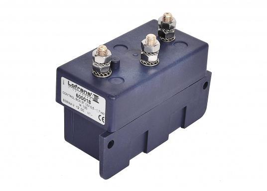 Diese Relaisbox ist mit Hochleistungsrelais ausgestattet und für die Ansteuerung starker Stromverbraucher und Ankerwinden geeignet. Die Box ist wasserdicht nach IP56, stoßfest und korrosionsbeständig. Für 3-polige Motoren.  (Bild 2 von 5)