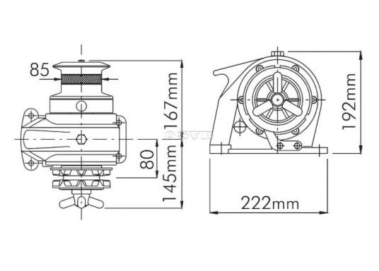 Stabile, doppeltwirkende Handankerwinde für Boote bis 12 m Länge. Lifetime-Schmierung.  (Bild 2 von 2)