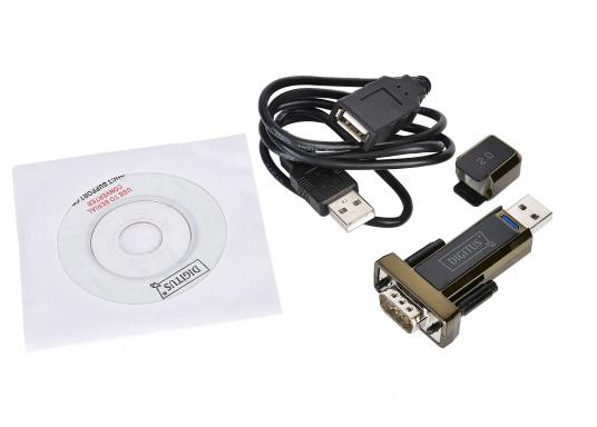 Seriell-USB-Adapter für den Anschluss von GPS-Geräten an PC / Notebook ohne COM-Schnittstelle. Der Adapter formt dieseriellen NMEA-Daten in USB 2.0 Format um.  (Bild 4 von 4)