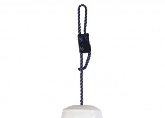 stufenlos verstellbar  für Tauwerk bis 12 mm geeignet