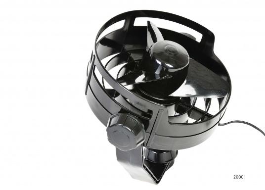 Kompakte, leistungsstarke Ventilatoren mit 150 mm Durchmesser und Schutzgitter. Der Propeller besteht aus Weichplastik, das Gehäuse ist aus schlagfestem Kunststoff gefertigt.Erhältlich in verschiedenen Ausführungen. Farbe: schwarz.  (Bild 2 von 8)