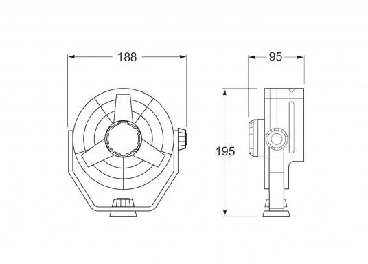 """Weiß o Hella Ventilator /""""Turbo/"""" Schwarz 12 V o 24 V 2 Stufen"""